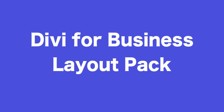 Divi Business Layout Pack Download For Divi User